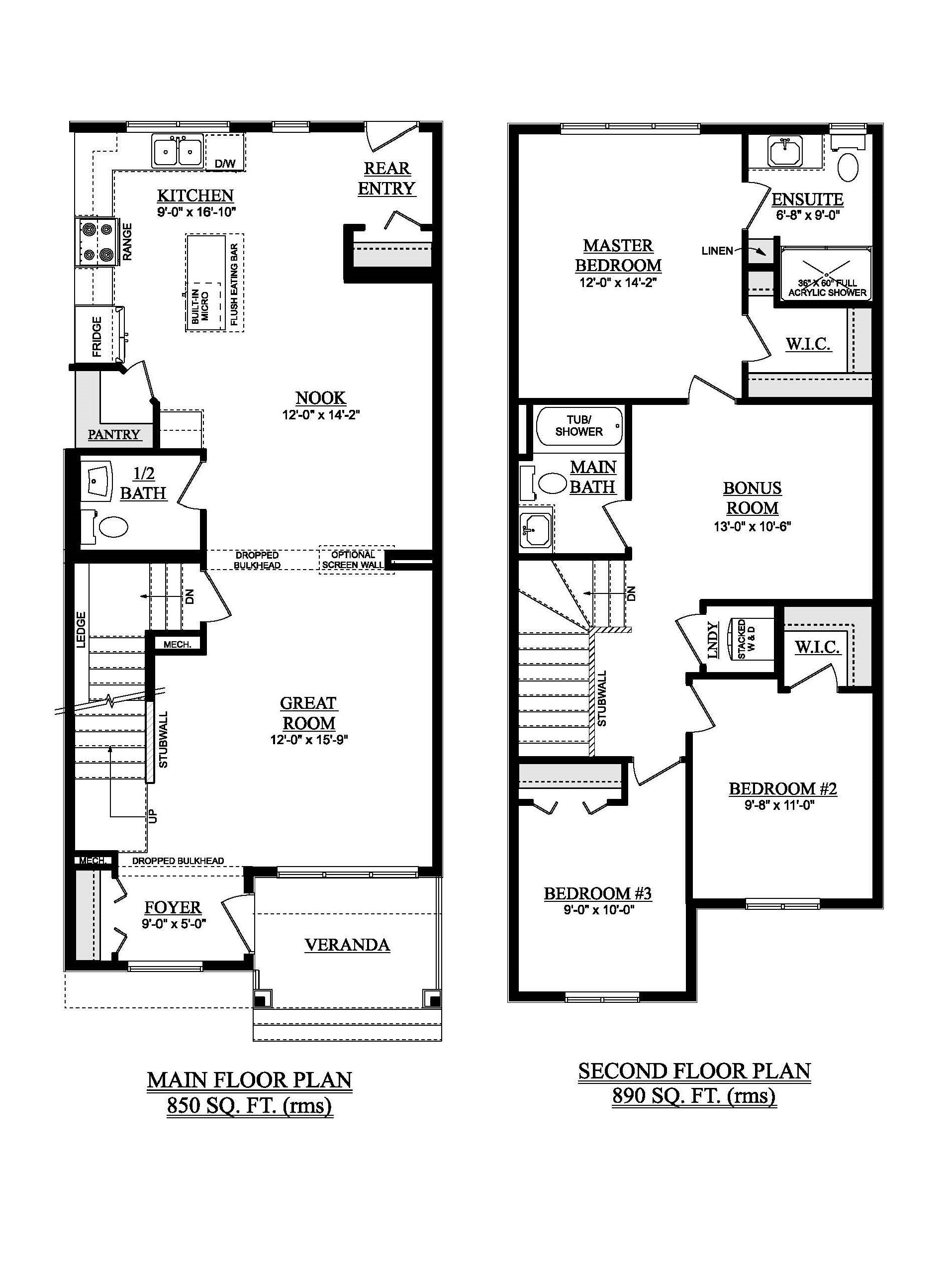 McConachie Heights Showhome Floorplan