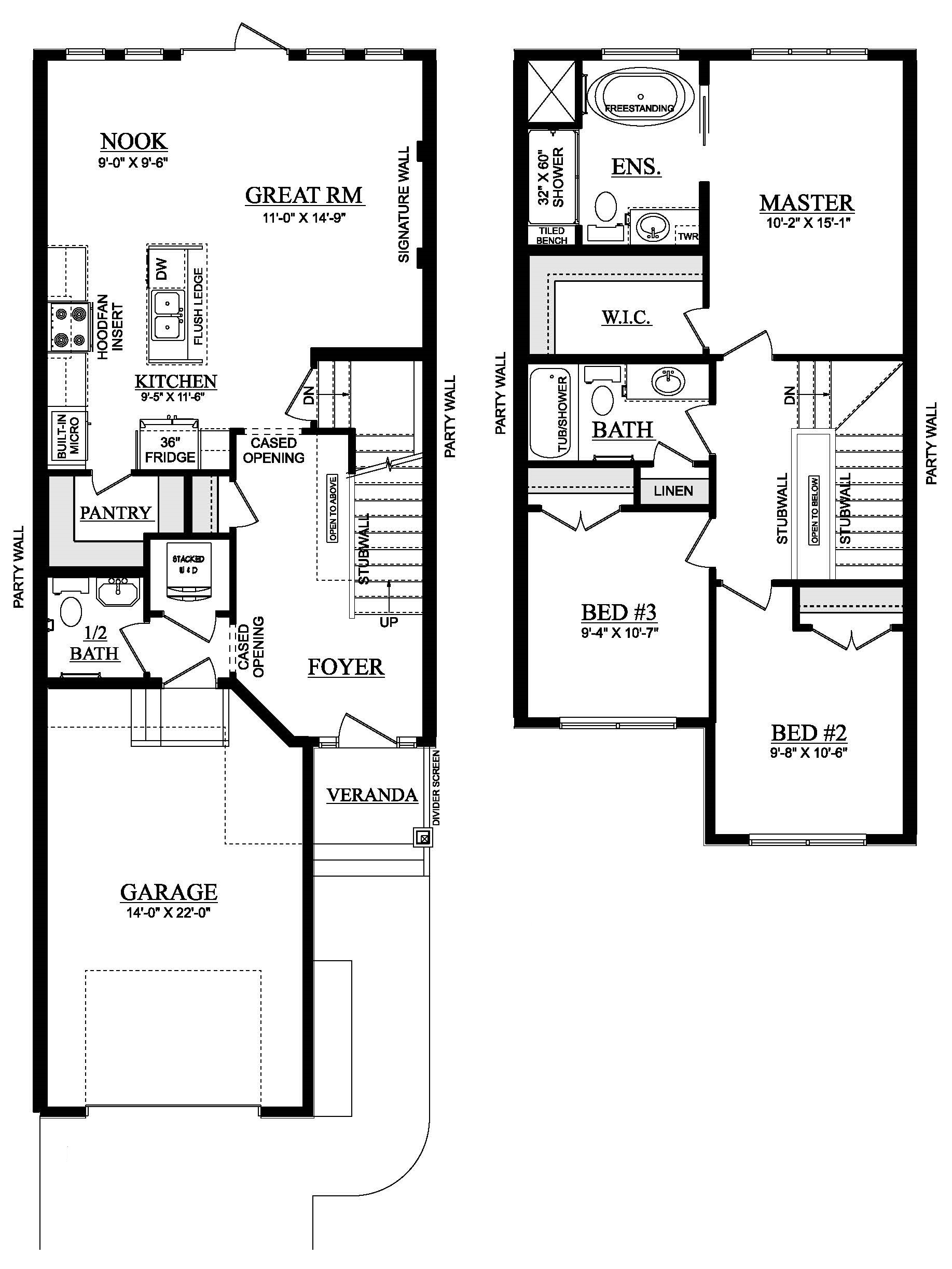 Cameron Heights  Showhome Floorplan